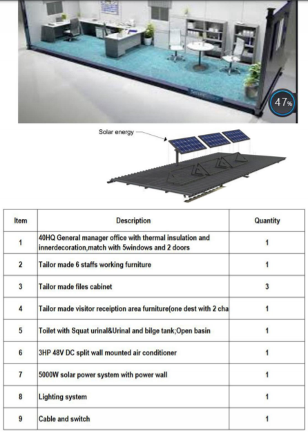 Solar Container Office Spec
