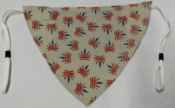 Linen Flag Hankerchief Mask
