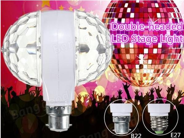 Double Head Rotating Bulb