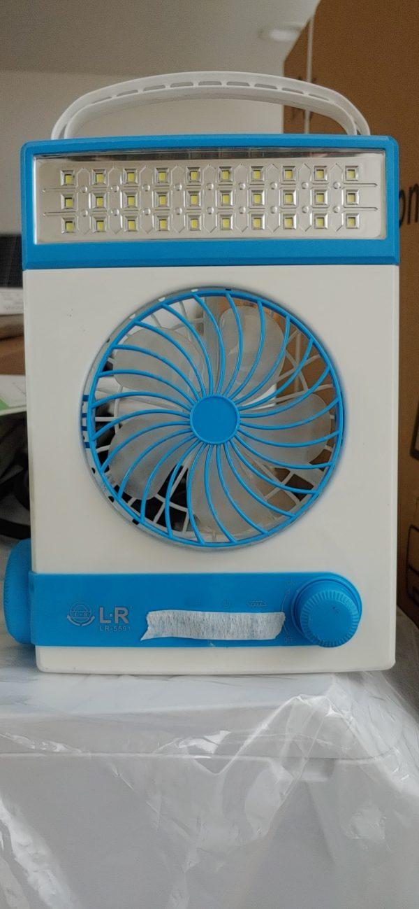SM-246 Solar Fan Blue