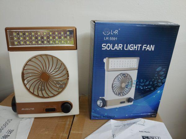 SM-446 Solar Fan Light Gold